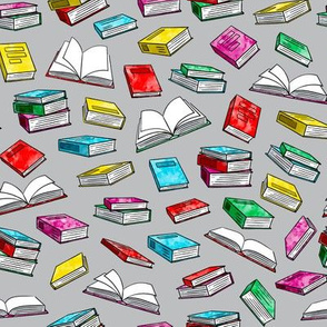 books - watercolor bold on grey