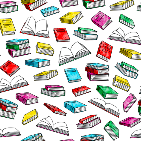 books - watercolor bold fabric by littlearrowdesign on Spoonflower - custom fabric