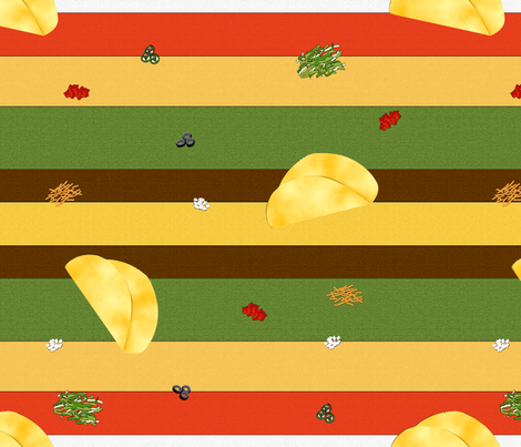TacosAlaCarte fabric by offtherailscosplay on Spoonflower - custom fabric