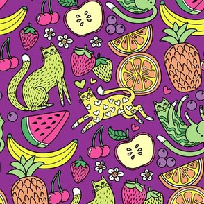 fruity felines! in Grape