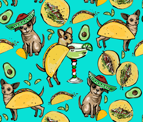 Taco Love fabric by jacquelynbizzottodesign on Spoonflower - custom fabric