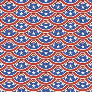 Classic Flag Scallop - Red White and Blue