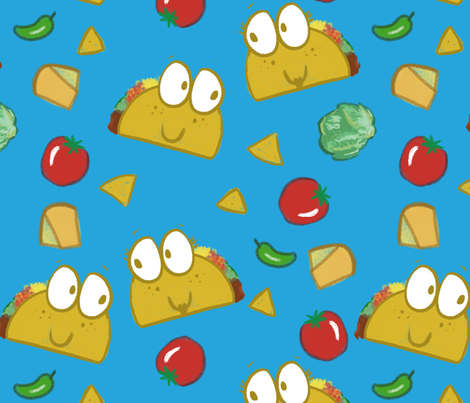 Taco fabric by mrsflynndini on Spoonflower - custom fabric