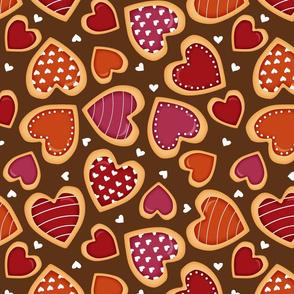 cookie hearts on choco (big)