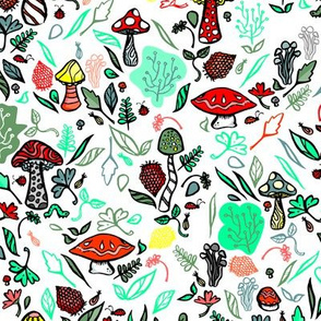 Mushroom Forest Scape