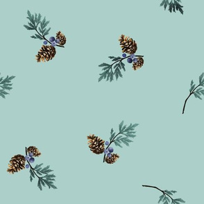 Watercolor Woodland - coordinate pinecone
