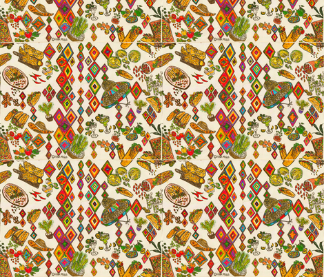 Tacos and burritos fabric by hanamegia on Spoonflower - custom fabric