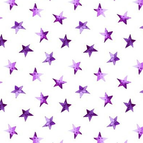 Watercolor purple stars || pattern for nursery, baby products