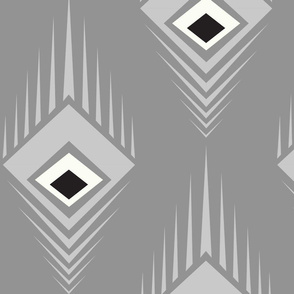 Silver Empire Deco Peacock