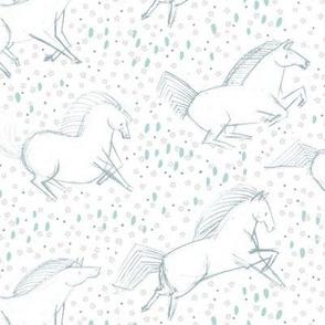 Wild Horses M+M White by Friztin