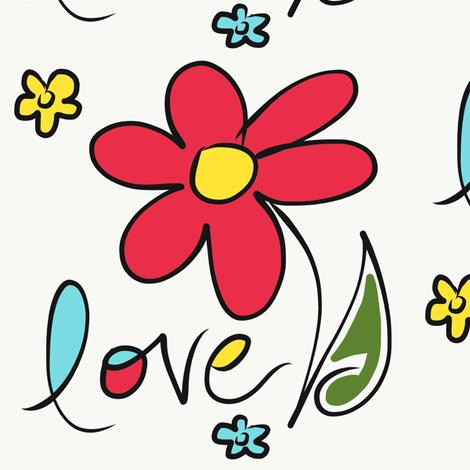 5683.WakeUpHappy.Love fabric by aliciawiblin on Spoonflower - custom fabric