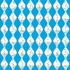 R.S.V.P.* (Sky) || polka dots hourglass sand time egg timer rainbow wave waves blue