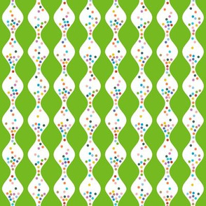 R.S.V.P.* (Grass) || polka dots hourglass sand time egg timer rainbow wave waves green