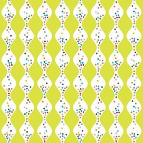 R.S.V.P.* (Lime) || polka dots hourglass sand time egg timer rainbow wave waves chartreuse