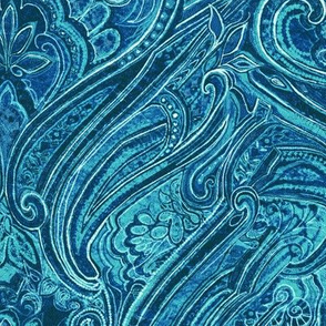 paisley-teal blue