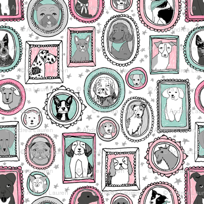 doggo portraits // cute dog, dogs, dog breed, pet, pets, cute dog poodle, terrier, pets, - pink and mint