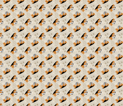 Small Airedale terriers and sports balls - tan volleyball soccer football fabric by rusticcorgi on Spoonflower - custom fabric