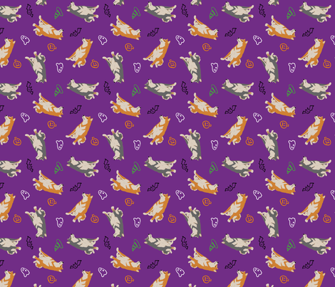 Tiny Shiba Inu B - Halloween fabric by rusticcorgi on Spoonflower - custom fabric