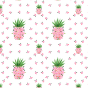Pineapple Pink Orchids Pattern