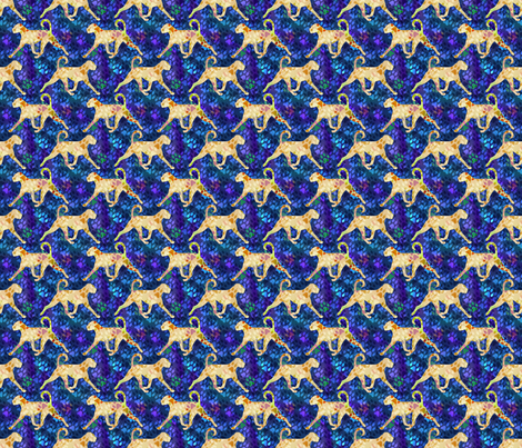 Cosmic trotting natural Boxer - night fabric by rusticcorgi on Spoonflower - custom fabric