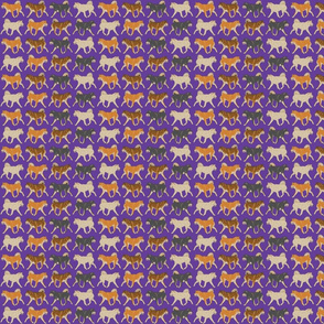 Trotting Shiba Inu border purple - small