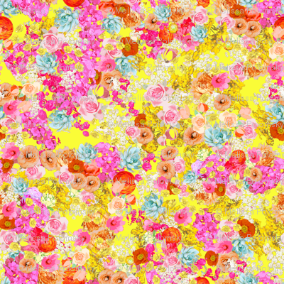 Summer Bright Floral // Neon Yellow