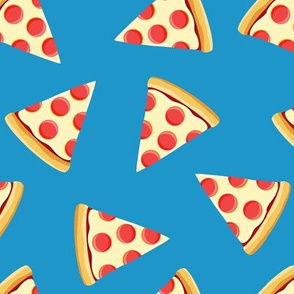 pizza slice (blue) food fabric