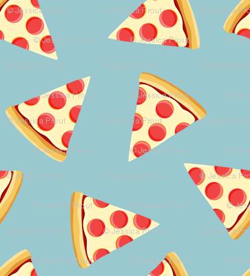pizza slice (light blue) food fabric