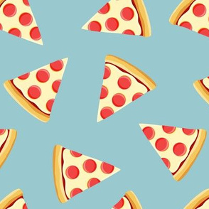 pizza slice (light blue) food fabric