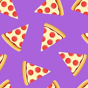 pizza slice (purple) food fabric