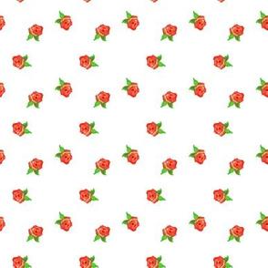 Vermilion Rosebuds