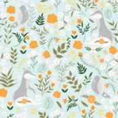 Marigold Meadow- blue