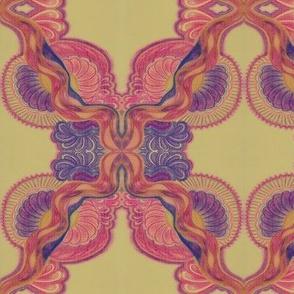 dreaming in pink and purple cream SPOONFLOWER