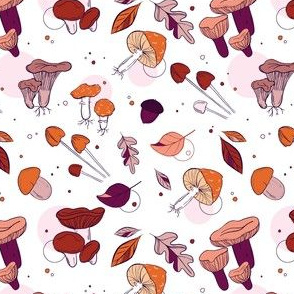 mushrooms violet pattern