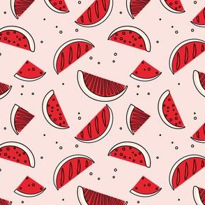 red simple watermelon