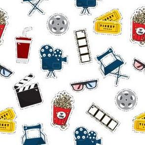 cinema pattern stickers