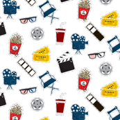 cinema pattern stickers