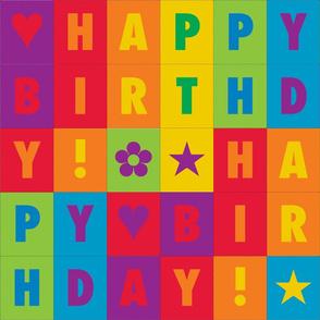 HALF SIZE - Happy Birthday Rainbow