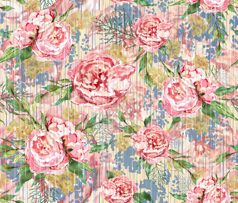 1920's Vintage Floral fabric by sarah_treu on Spoonflower - custom fabric