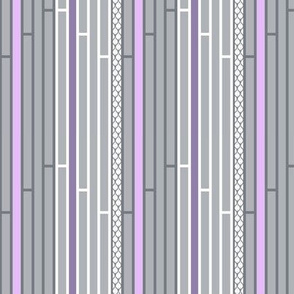 Gray and Purple Striped Lattice with White Stripes