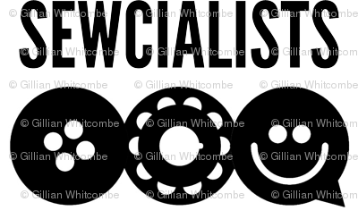 Official Sewcialists Logo - BW