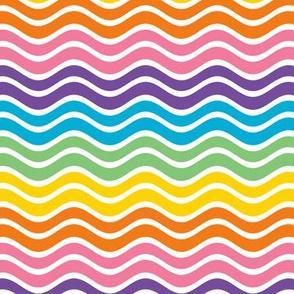 1960s Split Rainbow Rickrack
