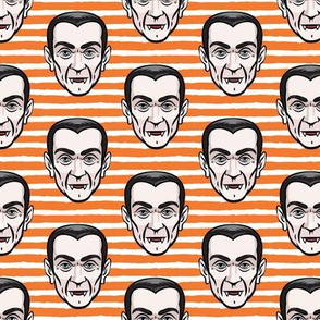 Dracula - orange stripes - halloween