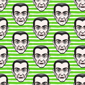 Dracula - green stripes - halloween