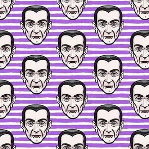 Dracula - purple stripes - halloween
