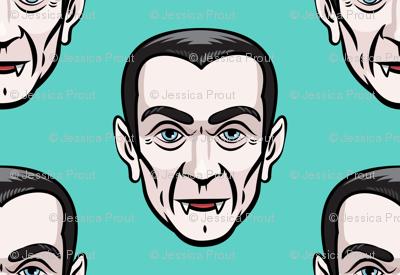 Dracula - teal - halloween