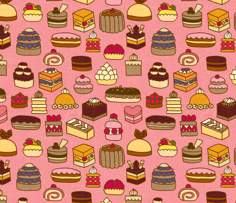 Patisserie {Strawberry} fabric by ceciliamok on Spoonflower - custom fabric