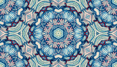Chinoiserie Rose in Vintage Blues