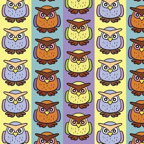 Striped Cute Owls