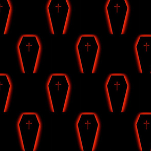 glowing coffin